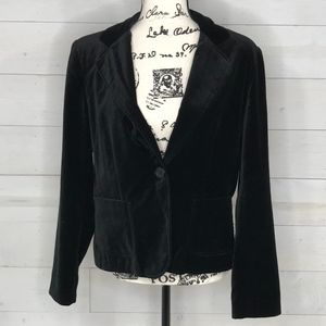 Briggs New York Black Velvet like Blazer sz 10